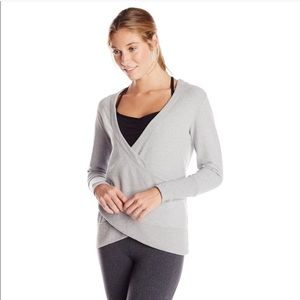 Lucy Gray Cross Wrap Front Sweatshirt